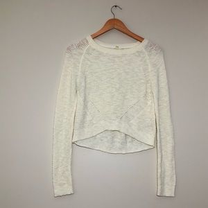 Anthropologie Hi Lo Cropped Sweater